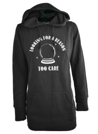 Looking For a Reason To Care Womens Skinny Fit Pullover Hood