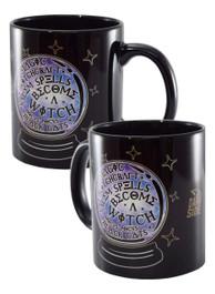 Witch Crystal Ball Black Mug