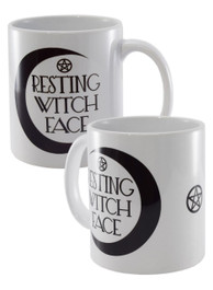 Resting Witch Face White Mug