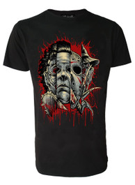 Faces Of Horror Mens T Shirt