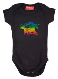 Foil Unicorn Dreams Babygrow