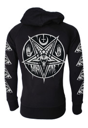 Pentagram Baphomet Cotton Zip Hood