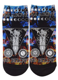 As Above So Below Short Socks