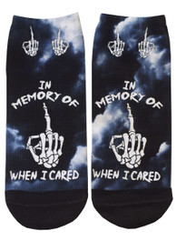 In Memory Of When I Cared Short Socks