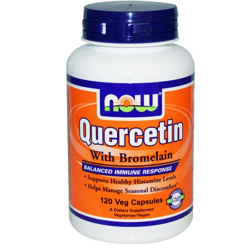 Supports Healthy Seasonal Immune Function. Quercetin is a naturally occurring free radical scavenger that supports healthy seasonal immune system function. Laboratory studies have demonstrated that Quercetin can also help to promote normal respiratory function. Bromelain has a long history of use by herbalists and is known to help support a balanced immune system response to environmental challenges. This complementary combination may thus promote year-round respiratory health and support overall seasonal comfort.