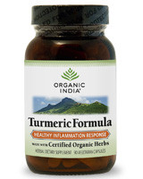 Organic India Turmeric formula is made with the purest, 100% organic turmeric, a natural spice that contains curcuminoids, which are phytonutrients with powerful antioxidant properties that fight the damaging effects of free radicals in the body. Fortified with curcuminoid extract and organic ginger.