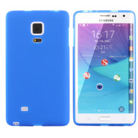 Blue Samsung Galaxy Note Edge Matte TPU Gel Case Cover