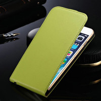 "Green Apple iPhone 6 / 6S Plus 5.5"" Elegant Genuine Leather Flip Cover - 1"