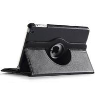 Black Apple iPad Mini 3 Smart Cover 360 Rotational Leather Stand Case - 4