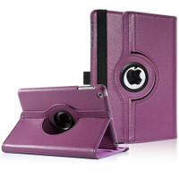 Purple 360 Rotational Leather Stand Case Cover For Apple iPad Mini 3 - 1
