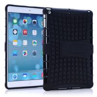 Black Apple iPad Mini 3 Heavy Duty Defender Hybrid Kickstand Case - 1