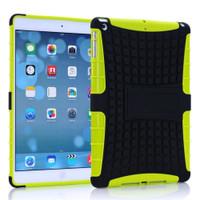 Green Shock Proof Protective Hybrid Kickstand Case For Apple iPad Mini 3 - 1