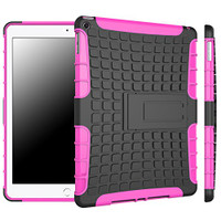 Hot Pink Hybrid Kickstand Defender Case For Apple iPad Air 2 Cover - 1