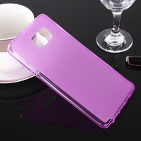 Purple Samsung Galaxy Note 5 Flexible Matte Gel TPU Rubber Case
