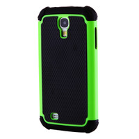 Samsung Galaxy S4 Heavy Duty Defender Case - Black and Green