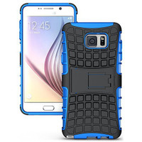 Blue Tough Dual Layer Hybrid Case For Samsung Galaxy Note 5 - 1