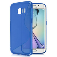 Blue Samsung Galaxy S6 S- Line, Wave, Curve, TPU Gel Case Cover