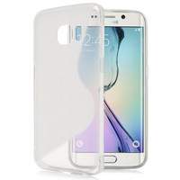 Clear S- Line, Wave, Curve, TPU Gel Case Cover For Samsung Galaxy S6