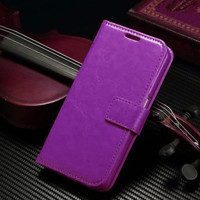 Samsung Galaxy S7 Premium Textured Wallet Inner Flexible Case - Purple - 1