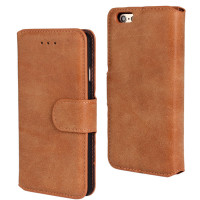 "Brown Luxury Retro Matte Wallet for iPhone 6 / 6S 4.7"" - 1"