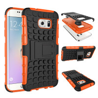 Orange Heavy Duty Rugged Case For Samsung Galaxy S7 Edge