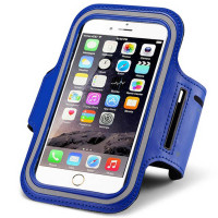 Blue iPhone 6 Durable Sweat-resistant Sports Armband Case Cover