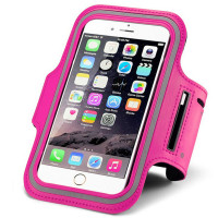 Hot Pink Sports Gym Running Armband for Apple iPhone 6 and 6S