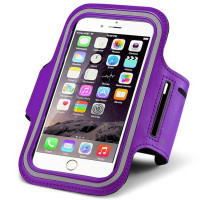 Purple Gym Sports Armband Exercise For iPhone 6 / 6S Cover