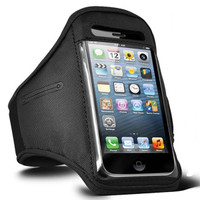 iPhone 4 / 4S Sports Armband Case / Cover - Black