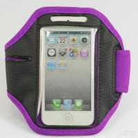 iPhone 4 / 4S Sports Armband Case / Cover - Purple