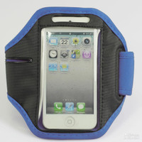 iPhone 4 / 4S Sports Armband Case / Cover - Blue