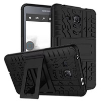 Black Heavy Duty Protective Stand Case For Samsung Galaxy Tab A 7.0""