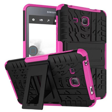 Hot Pink Dual Layer Kickstand Case For Samsung Galaxy Tab A 7.0""