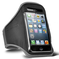 iPhone 4 / 4S Sports Armband Case / Cover - Grey