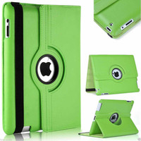 Green Apple iPad Mini 4 360 Degree Magnetic Rotating Synthetic Leather Case Smart Cover - 1