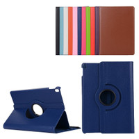 "Navy Blue iPad Pro 10.5"" 2017 360 Degree Rotation Flip Leather Smart Case - 1"