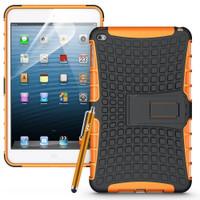 Orange Apple iPad Mini 4 Heavy Duty Hybrid Kickstand Case  - 1