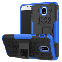 Blue Heavy Duty Kickstand Case For Samsung Galaxy J5 Pro (2017)