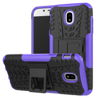 Purple Samsung Galaxy J5 Pro (2017) Dual Layer Kickstand Case