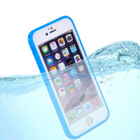 Blue iPhone 8 Shockproof Rubber Full Body Silicone Case - 2