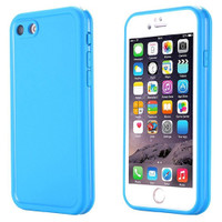 Blue iPhone 7 Ultra Thin Shockproof Silicone Full Body Protective Case - 1
