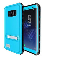 Sky Blue Waterproof Dirtproof Defender Case For Samsung Galaxy S8 Plus - 1