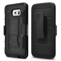 Samsung Galaxy S8 Plus Black Military Future Armor Case w/ Optional Holster - 1