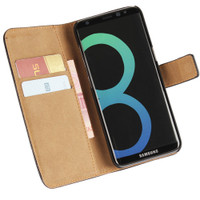 Genuine Black Leather Business Wallet Smart Case For Samsung Galaxy Note 8 - 1