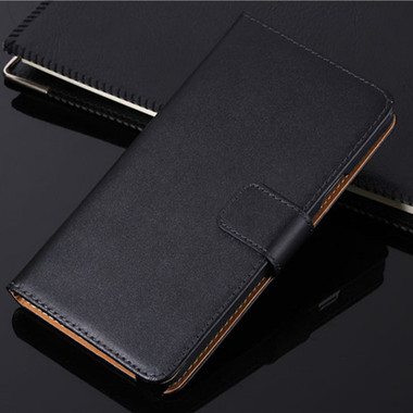 Black Samsung Galaxy J7 Pro (2017) Genuine Leather Wallet Case - 1