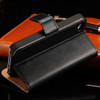 Black Genuine Leather Wallet Case for Apple iPhone 4 / 4S - 3