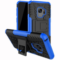 Samsung Galaxy S9 Blue Heavy Duty Defender Kickstand Case - 1