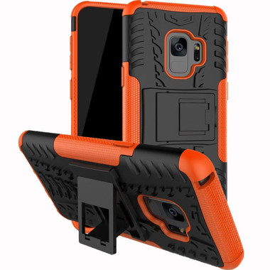 Samsung Galaxy S9 Orange Tradies Dual Layer Kickstand Case - 1