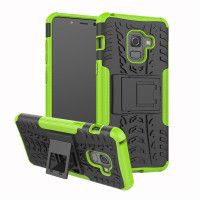 Green Hybrid Kickstand Defender Case For Samsung Galaxy A8 (2018)