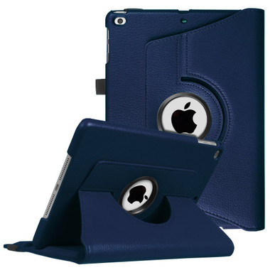 "Navy iPad 9.7"" 2018 360 Degree Rotating Stand Protective Case - 1"